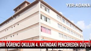 Bir öğrenci okulun 4. katındaki pencereden düştü
