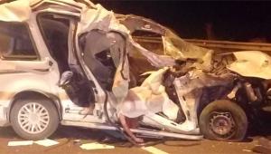 Otoyolda korkunç kaza