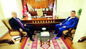 Polis Okulu Müdürü Naim Cengiz'den, Ataşbak'a teşekkür ziyareti