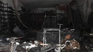 Traktör tamirhanesinde korkutan yangın