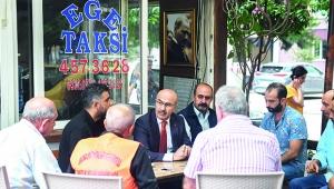 Vali Demirtaş taksicilerle görüştü