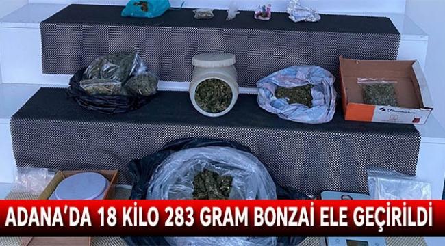 Adana'da 18 kilo 283 gram bonzai ele geçirildi