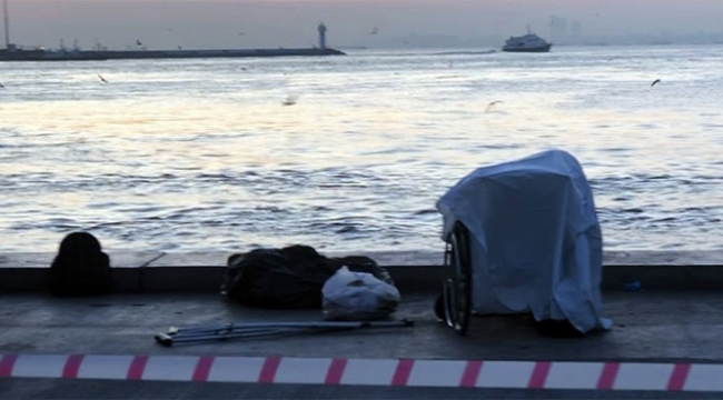 Denizi seyreden engelli adam hayatını kaybetti