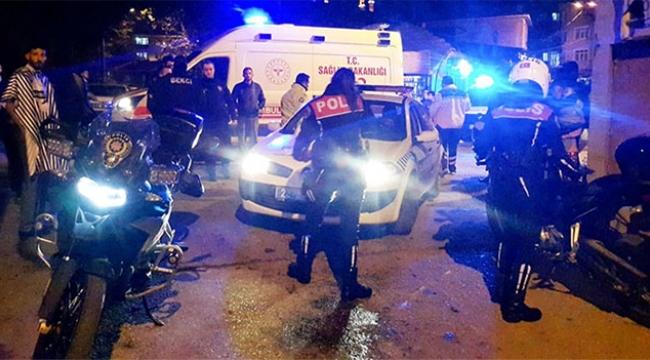Polis motosikleti kaza yaptı: 2 polis yaralı