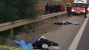 TEM'de korkunç kaza 3 ölü 1 yaralı
