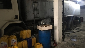14 bin litre kaçak akaryakıt ele geçirildi