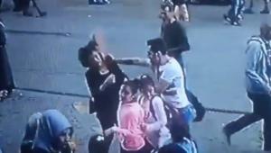 Kadını döven şahsa vatandaştan dayak