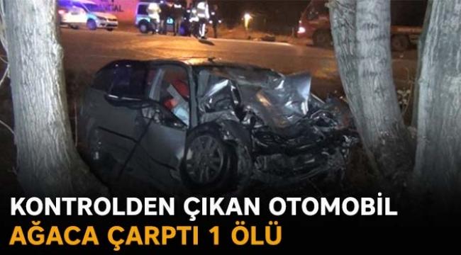 Kontrolden çıkan otomobil ağaca çarptı 1 ölü