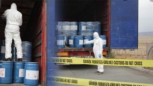 Sınır kapısında 18,4 ton siyanür yakalandı
