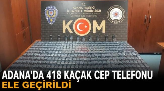 Adana'da 105 bin lira değerinde cep telefonu ele geçirildi