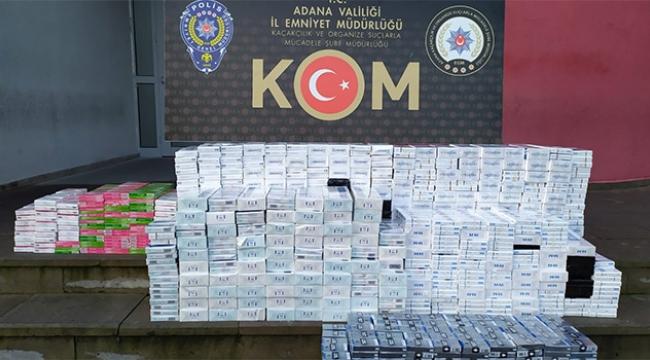 Adana'da 4 bin 590 paket kaçak sigara ele geçirildi