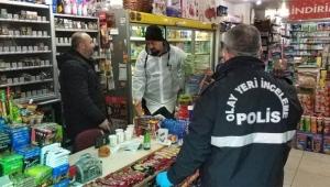 Hırsız şok etti Karakolun yakındaki marketi soydu