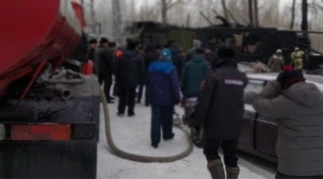 Köy evinde yangın: 11 ölü