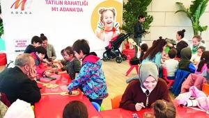 M1 Adana AVM'de atölye çalışmalarına çocuklar büyük ilgi gösterdi