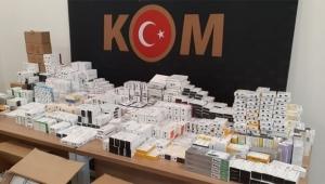 Terör örgütlerine gönderilecek 72 bin ilaç ele geçirildi