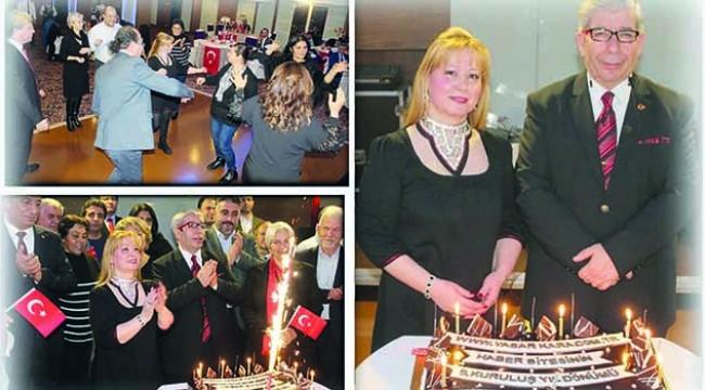 Yaşar Kara, 9. yıldönümü sevinci dostlarıyla kutladı