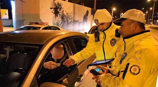 1 milyon 41 bin 588 sürücüye alkol testi