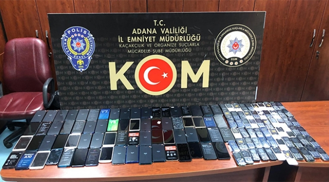 165 bin lira değerinde cep telefonu ele geçirildi