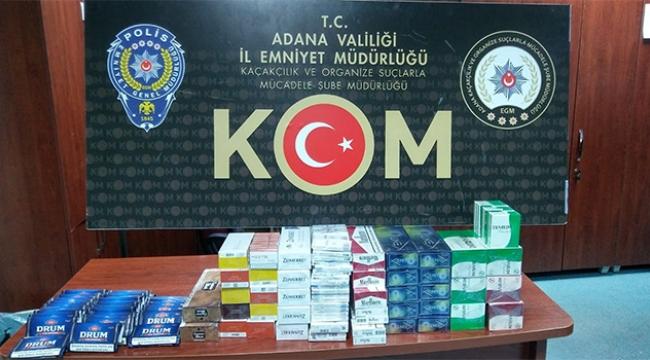 4 bin 410 paket kaçak sigara ele geçirildi