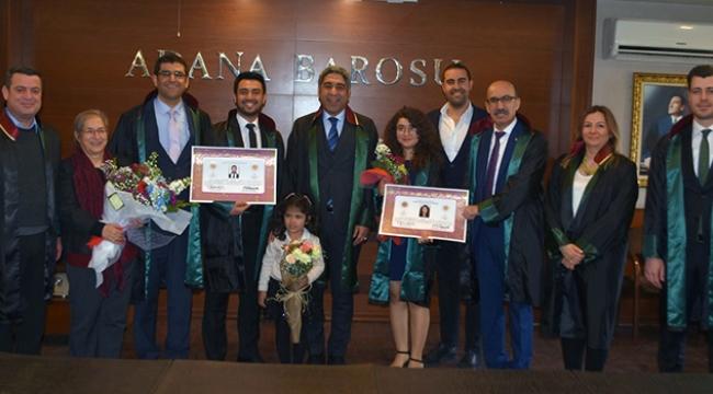 Adana Barosu'nda avukatlık ruhsatı töreni
