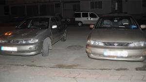 Arabalar karıştı polis şaşkına döndü