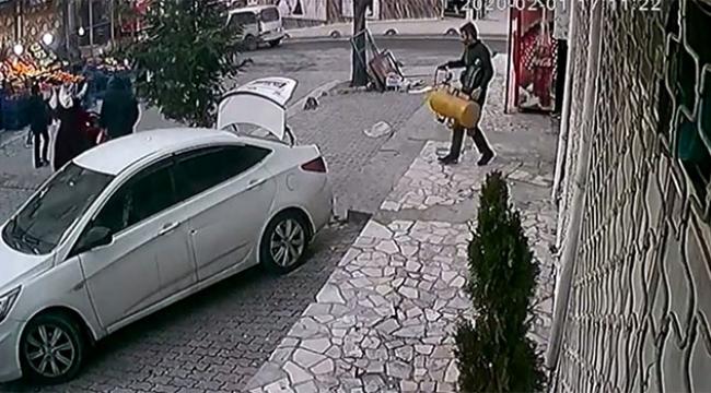Gündüz gözüyle hırsızlık kameralara yansıdı