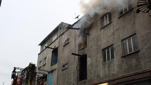 İplik fabrikasına yangın paniği