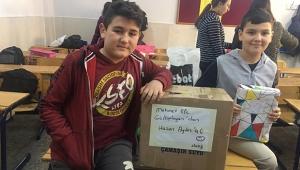 Kasım Sacide Ortaokulu'nun yardımsever öğrencileri