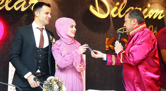 Kocaispir Sevgililer Günü'nde 9 çiftin nikahını kıydı