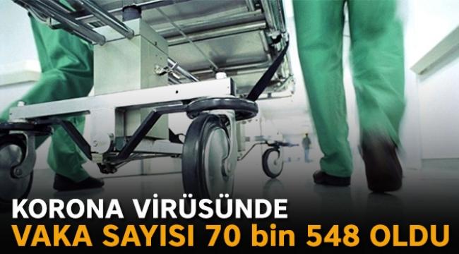 Korona virüsünde vaka sayısı 70 bin 548 oldu