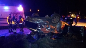 Otobüs ile otomobil çarpıştı: 3 ölü