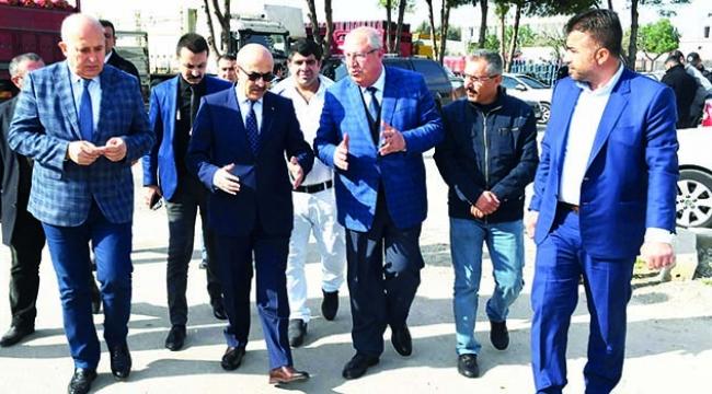 Vali Demirtaş, Dalokay hal esnafının sorunlarını dinledi