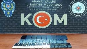 Adana'da 25 bin lira değerinde kaçak telefon ele geçirildi