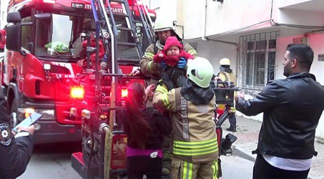 Bodrum katta yangın paniği