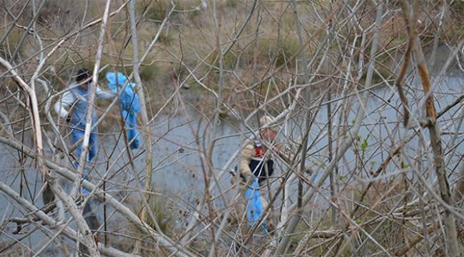 Boş bir arazide insan iskeleti bulundu