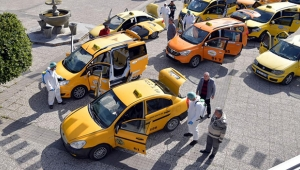 Çukurova'da taksiler dezenfekte edildi