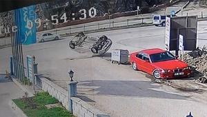 Feci kaza kameralara böyle yansıdı