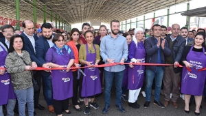 Kadın emeği ve köylü pazarı açıldı