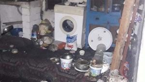 Mutfak tüpü gaz kaçırdı ev bu hale geldi