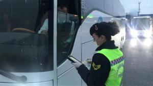 Şehirlerarası otobüslere denetim