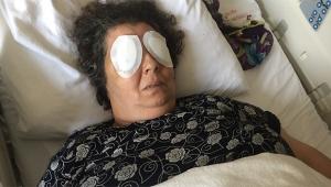 Şizofren kadın hastanede bir hastanın gözlerini oydu