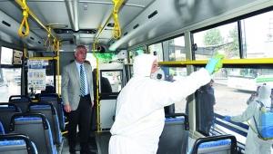 Toplu taşımada Korona temizliği