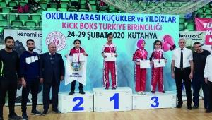 Tuana Doğan Türkiye Şampiyonu Sude Toköz Türkiye üçüncüsü