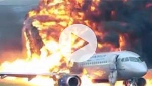 41 kişinin öldüğü uçak kazasının görüntüleri ortaya çıktı