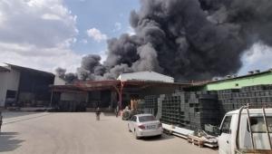 Depoda yangın paniği