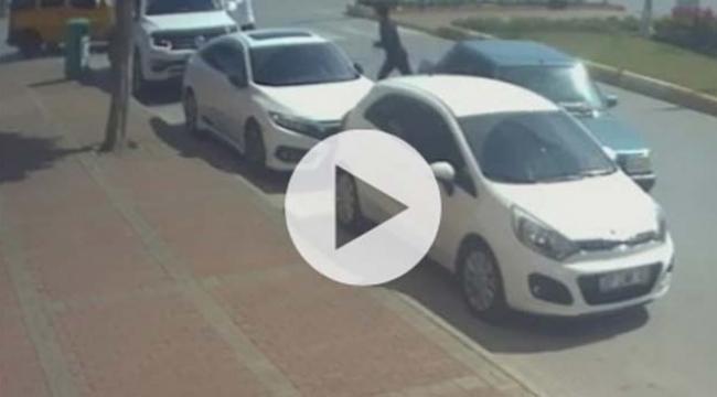 Polisi görünce kontak anahtarını bırakıp kaçtı