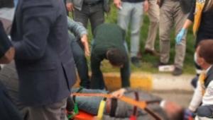Yaya, otomobilin çarpması sonucu ağır yaralandı