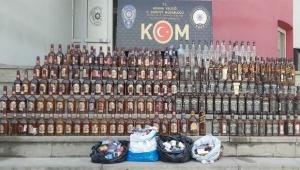 100 bin lira değerinde kaçak içki ele geçirildi
