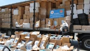 760 bin adet cerrahi maske, 1 milyon 310 bin adet eldiven ele geçirildi