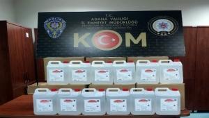 Adana'da 200 litre kaçak alkol ele geçirildi